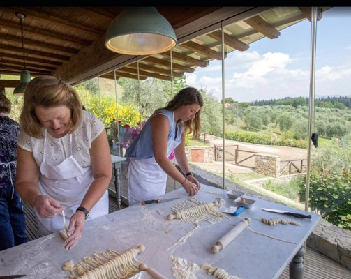 Cooking Class and Lunch at a Farmhouse in Tuscany with Local Market Tour from Florence